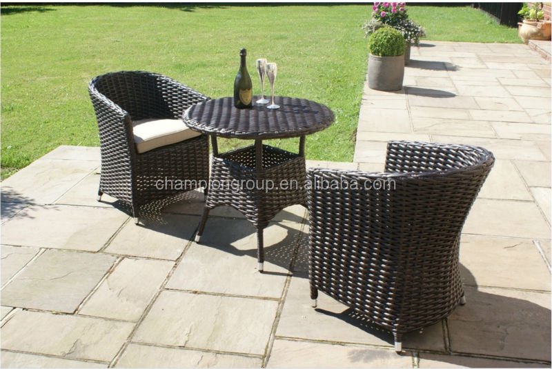 sienna rattan garden furniture outdoor small round table and 2