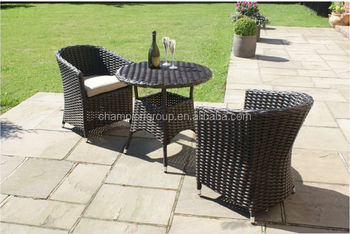 Sienna Rattan Garden Furniture Outdoor Small Round Table And 2 Chairs  Bistro Set