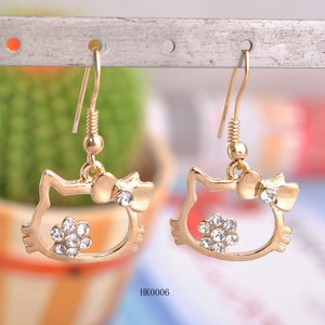 3383d07ac Hello Kitty Gold Earrings, Hello Kitty Gold Earrings Suppliers and  Manufacturers at Alibaba.com