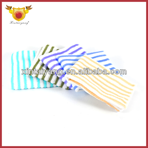 Promotional wholesale china goods color stripe microfiber cleaning towel