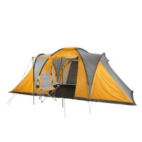 6 person 2 rooms family camping tent