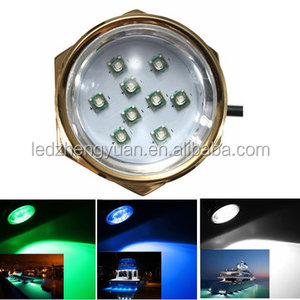 High lumen RGB RF control led underwater marine lights made of 316 stainless steel ocean submarine yacht light seawater light