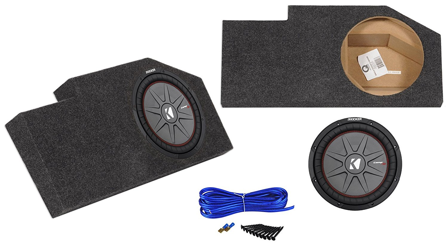 Cheap Dodge Ram 1500 Subwoofer Box Find Crew Cab Sub Get Quotations Sealed Enclosure Kicker 12 Slim For 02 Up