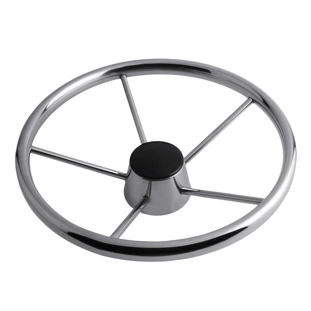 MagiDeal 13'' Boat Marine Yacht Stainless Steering Wheel for Boat Marine Yacht - Silver