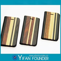 cell phone accessories /mobile cases wood + genuine leather case covers for iphone 5s
