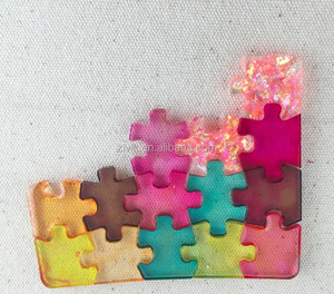 Puzzle Shaped Mould Making Liquid Silicone Rubber Silicone Molds For Resin Jewelry Making