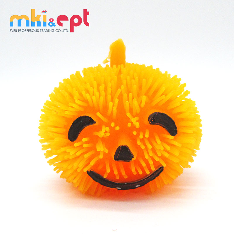 Halloween Pumpkin Puffer Ball With Light