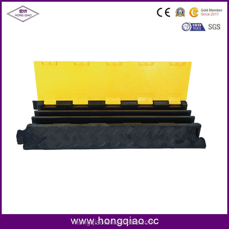 2/3/5 Channel Yellow and Black rubber electrical wire protector wire channel rubber edge protector