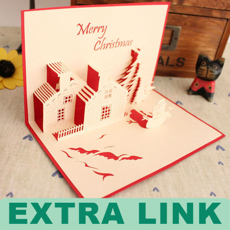 Eco-friendly High Quality Handmade Gift Box 3d Pop Up Greeting Cards ...