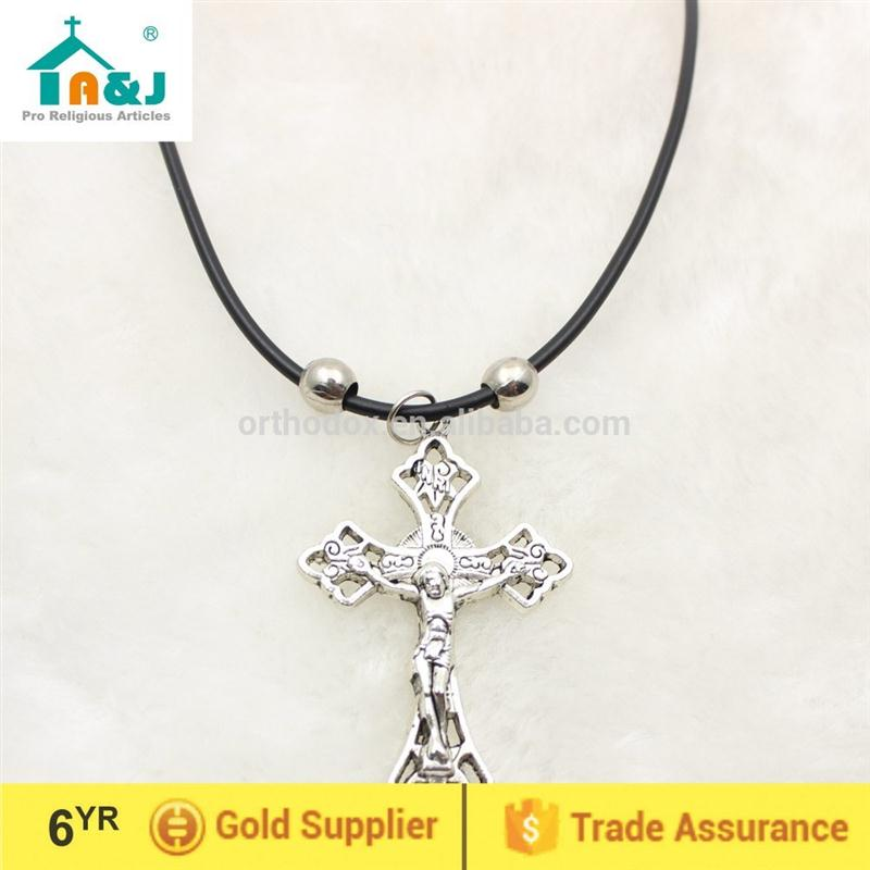 SGS Certification antique crucifix pendant key chains praying
