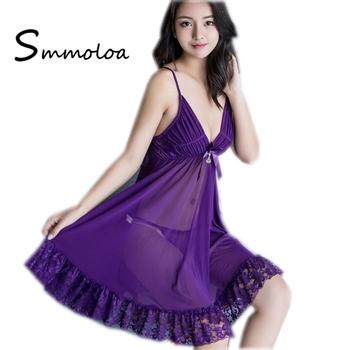e92ca3bde9ed2 Smmoloa Sexy Lace Transparent Babydoll Sleepwear Nighty For Honeymoon