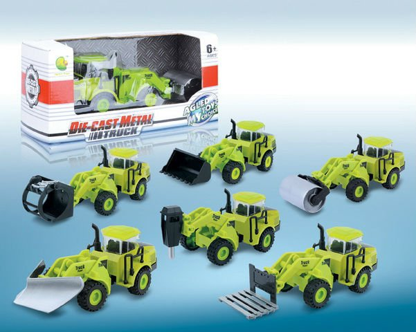 Pull back die cast carro, agricultor carro de metal, o carro liga