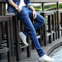 2017 spring autumn fashion cheap cool blue mens jeans pants new style boys jeans 2017