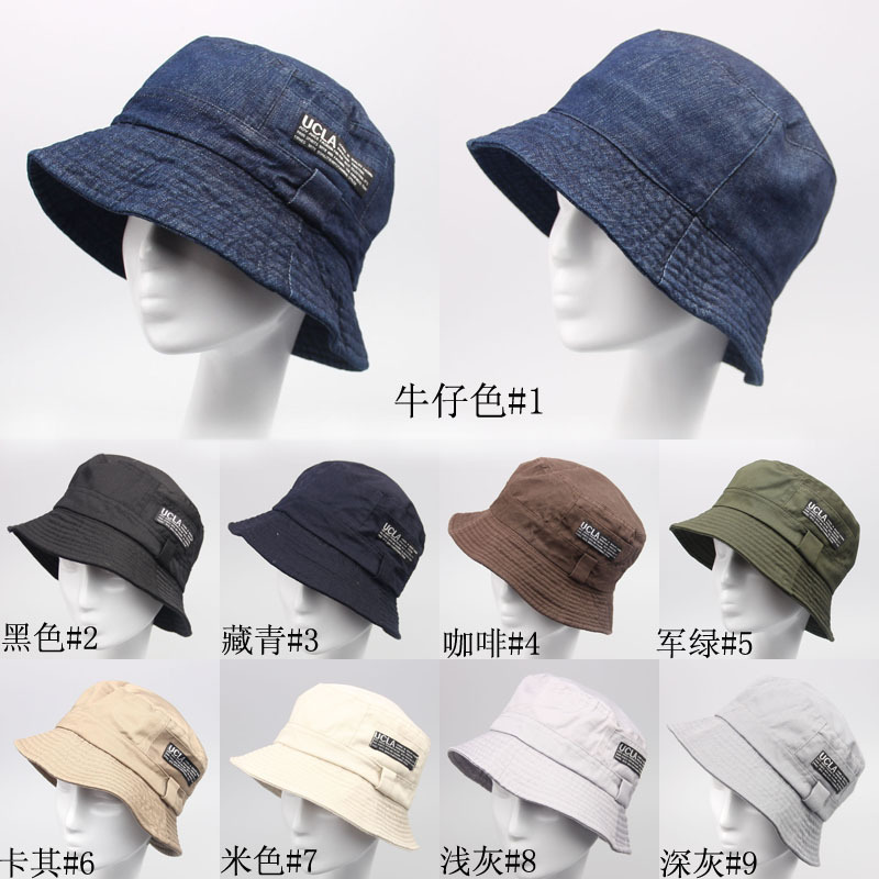 22971f2c53d5c Wholesale-2016 Fashion Cottonblend Denim Unisex Cap Bucket Hat Summer Outdoor  Fishing Caps for Men and Women Flat Sun Berets HT51041+20