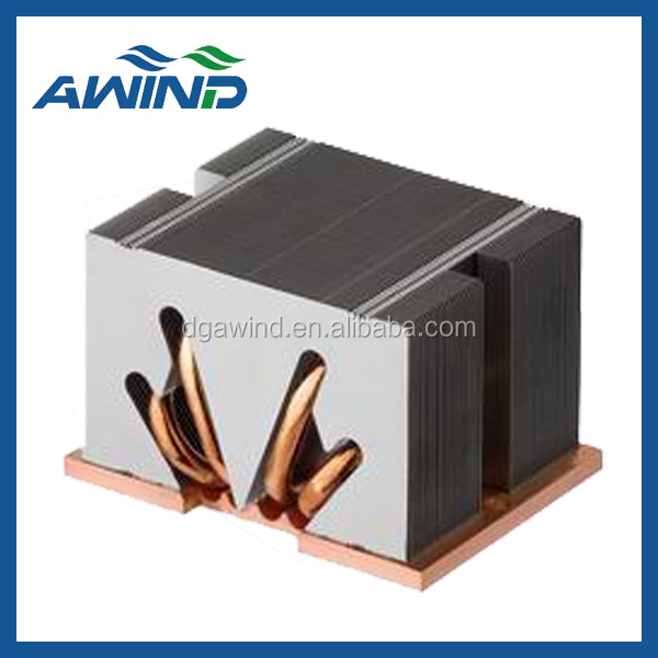 welding heat sink with copper heat pipe for indusry device