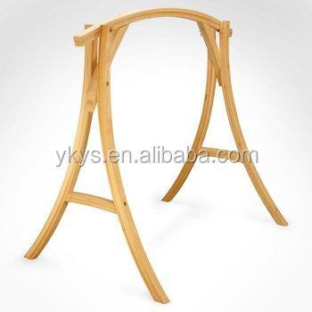 Wooden Roman Arc Hammock Chair Stand