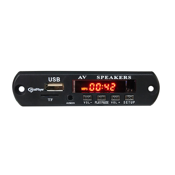 Portable USB SD Bluetooth MP3 MP4 AVI DVD Video Player Module, Car MP5 Player Record Circuit Decoder Board With Radio FM LCD