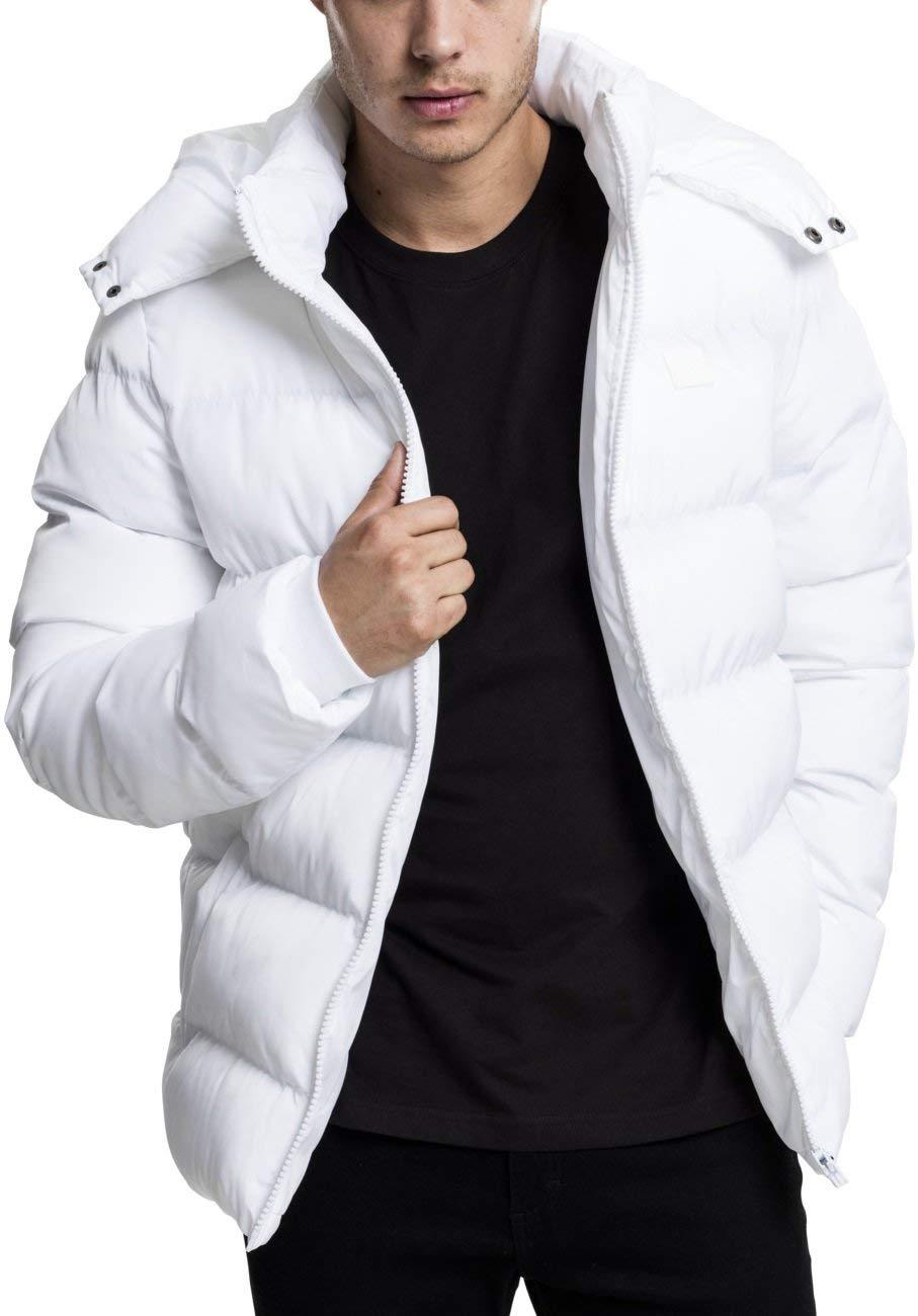 cba96be3 Urban Classics TB438 Hooded Oldschool College Jacket Black White Herren  Mens Fashion Hoodies & Sweatshirts