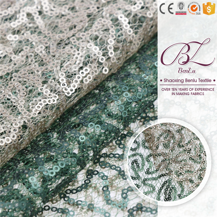 Beautiful trim su embroidery net fabric sequins