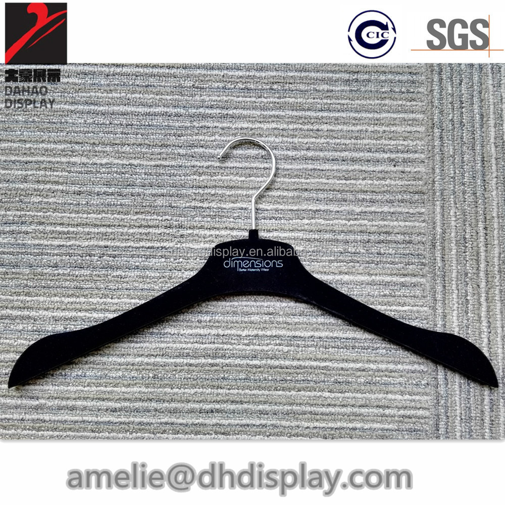 velvet dress hanger Custom velvet flocking hanger with logo printing