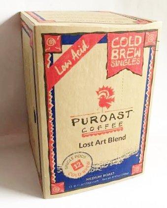 Puroast Cold Brew Low Acid Coffee 12 Keurig K-Cups - Lost Art Blend