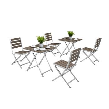 Tavoli Da Giardino In Alluminio Pieghevoli.Tavolo Da Giardino Set Balcone In Alluminio Pieghevole Tavolo Da