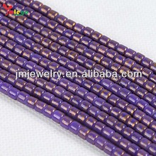 4mm putaran beads DIY jewelry Beads dengan warna dicetak Inlay