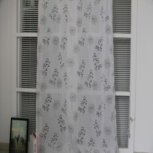 Popular African hotel office burnout organza sheer curtain fabric for custom drapery