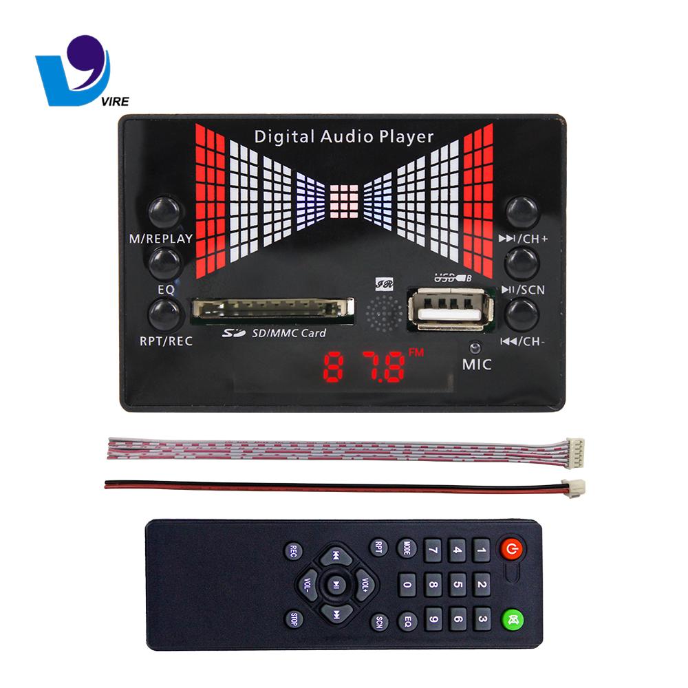 High Quality Fm Recording Mp3 Decoder Board With Flashing Lights фото