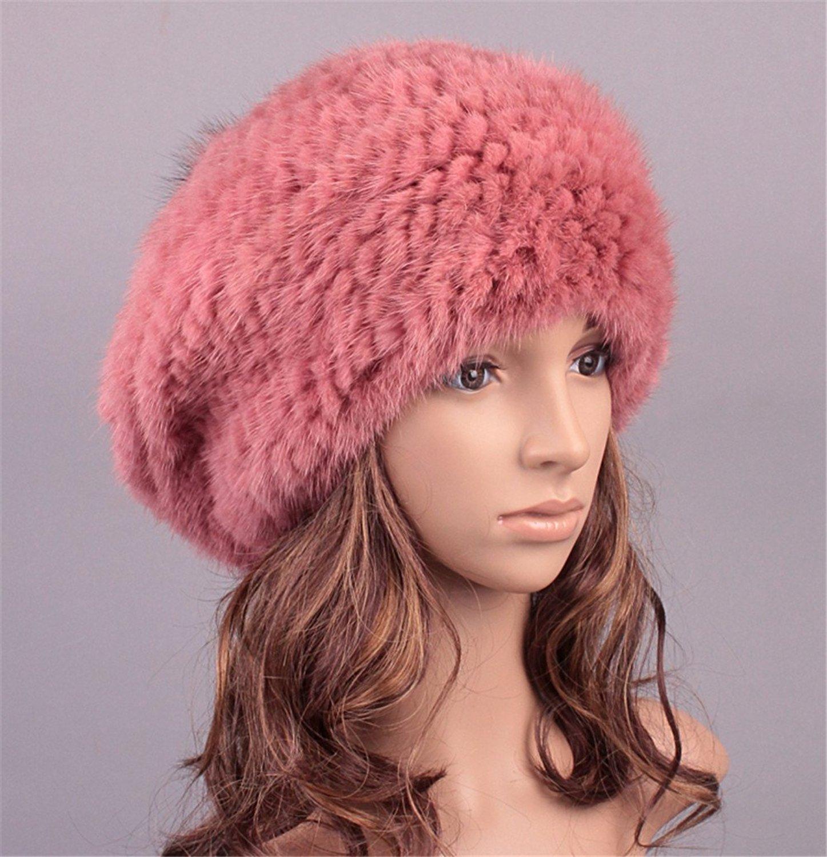 a6633fdc72f Buy Roniky Winter Beanie Womens Mink Fur Knitted Hat Silver Fox Fur ...