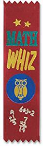 "Math Whiz Value Pack Ribbons (3 Pieces) - Math Whiz Value Pack Ribbonssize: 11/2"" X 61/4""Pkg: 10 Counttheme: Educationalfeatures: Value Packs"