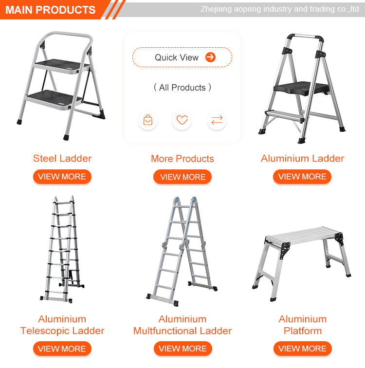 2 stap ladder kruk kid ladder met EN131 AP-1002A