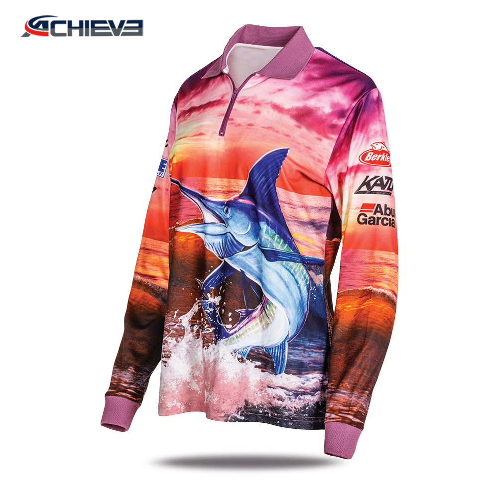Großhandel kinder fishing shirts/angeln trikots/dri fit fishing shirts