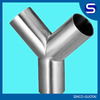 asme b16.9 ss304 ss316l Stainless steel t y pipe fitting