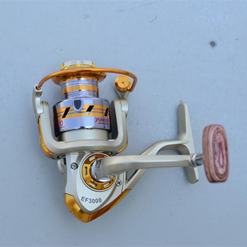 Drop shipping Spool Aluminum Spinning Fly Fishing Reel Bait Casting EF1000-7000 Saltwater Okuma Metal Front Drag Molinete Pesca