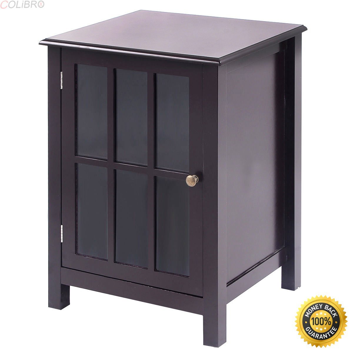 COLIBROX--One Door Accent Cabinet Storage Cabinet 2 Shelf Display Home Decor Coffee New,home storage cabinets,free standing storage cabinets with doors,home depot garage cabinets