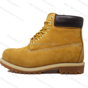 Fashionable Nubuck Leather Gum Sole Cement Work Shoes Work Boots HC17019