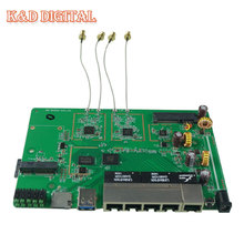 1200Mbps MT7621A Chipset Gigabit LAN/Wan Port AC WiFi Router board OpenWRT Firmware With PCI-E ,SATA3.0