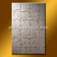 100%Handmade Modern silver oil painting on canvas