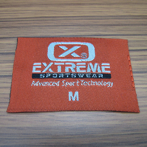 Factory Supply Straight Cut Woven Brand Label With M Size On