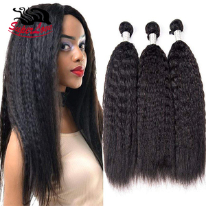 SuperLove Hair 10A Good Quality 100% Real Virgin Remy Kinky Hair Weave Braid, Yaki human hair weave bundles For Black Women