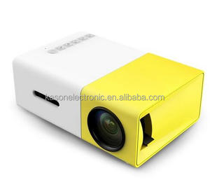 2years warranty YG300 LED Portable Projector 500LM 3.5mm Audio 320x240 Pixel HD MI USB Mini YG-300 Home Media Player