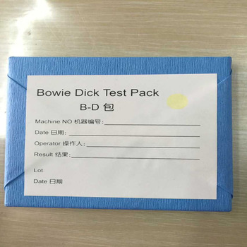 Bowie dick pack test