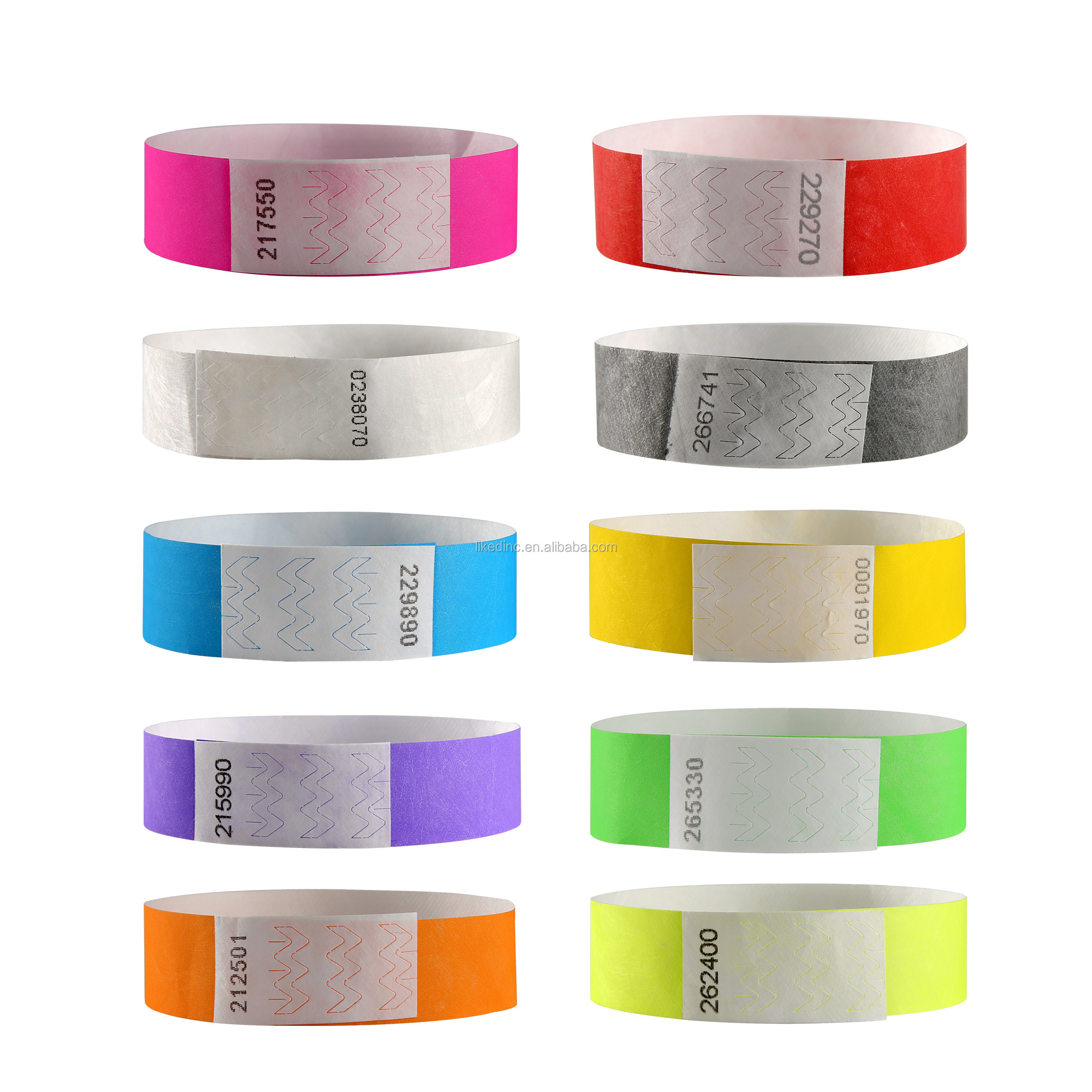 High class colorful event bracelets tyvek printing label wristband for all festival