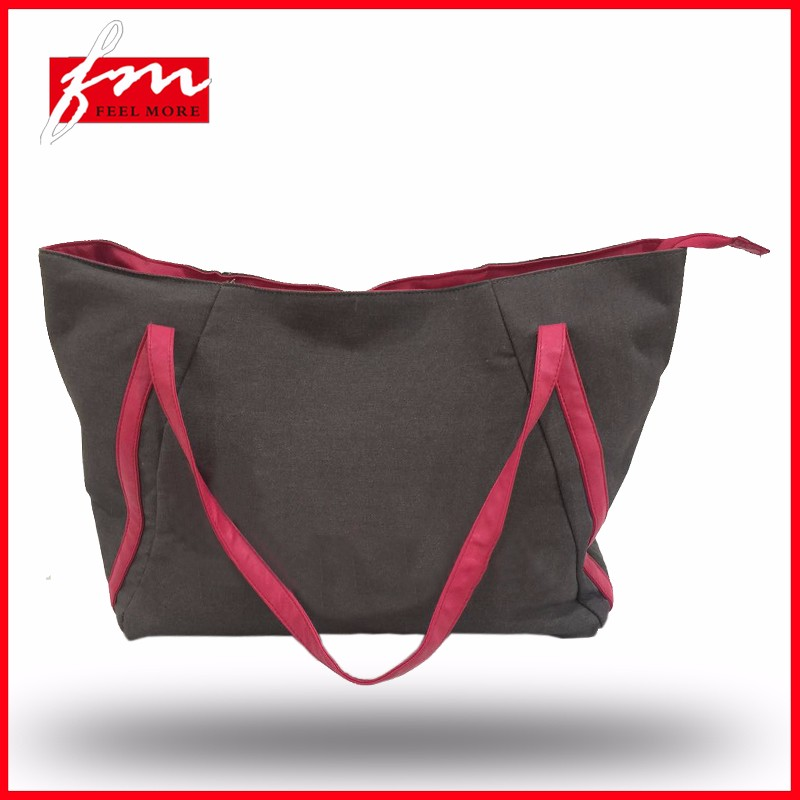 Promotional manufacturer travel big capacity fashion tote bags with latest design