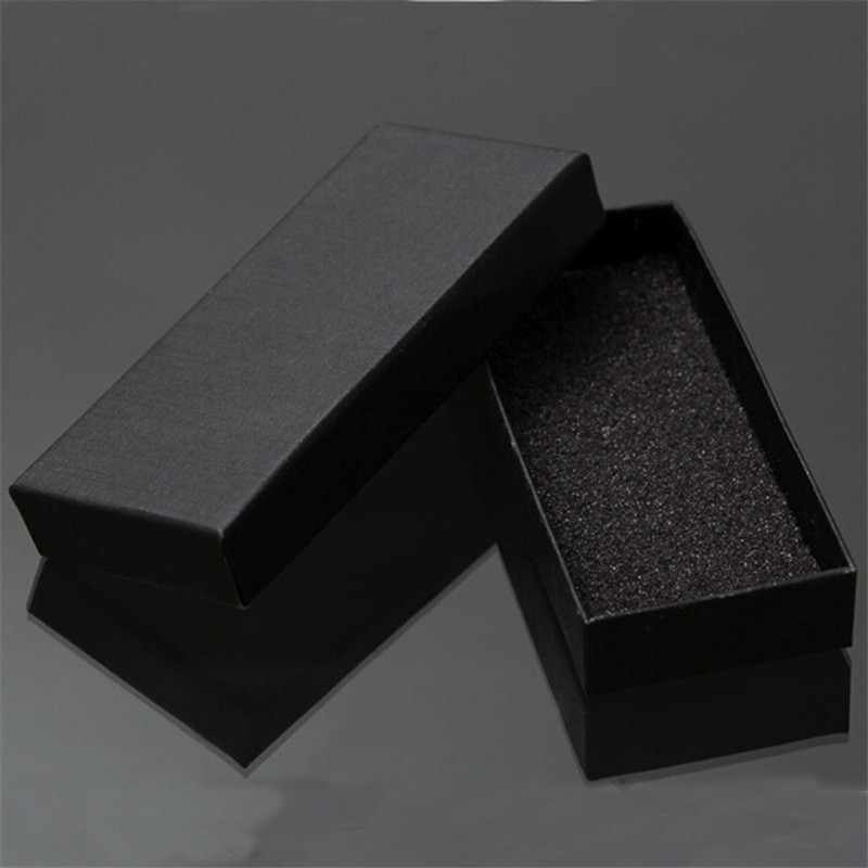 20d89c93111 2019 Wholesale Practical Matte Black Gift Box Jewelry Key Buckle Packaging  Small Cardboard Jewelry Boxes With Foam Sponge Pad Boxes For Sale From  Baolv