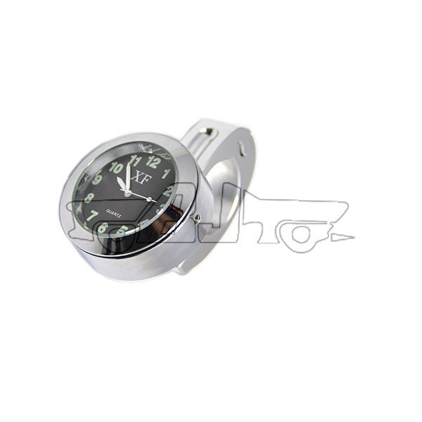 "BJ-HBW-001 Waterproof Motorcycle or Bicycle Handlebar Mount Clock for 7/8"" to 1"" handlebar cruisers/chopper"