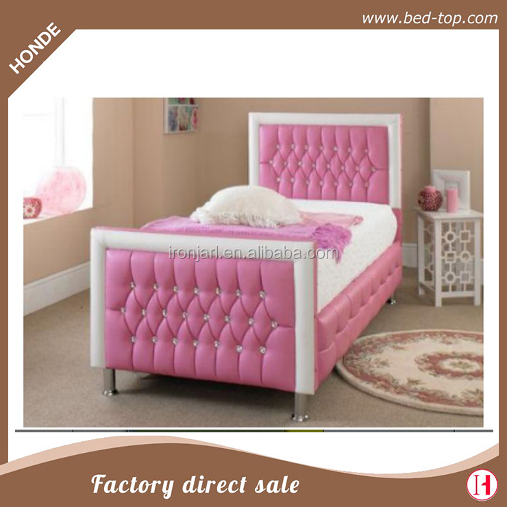 Pink Upholstered Diamond Tufted Pu Leather Twin Bed Frame Y Product On Alibaba