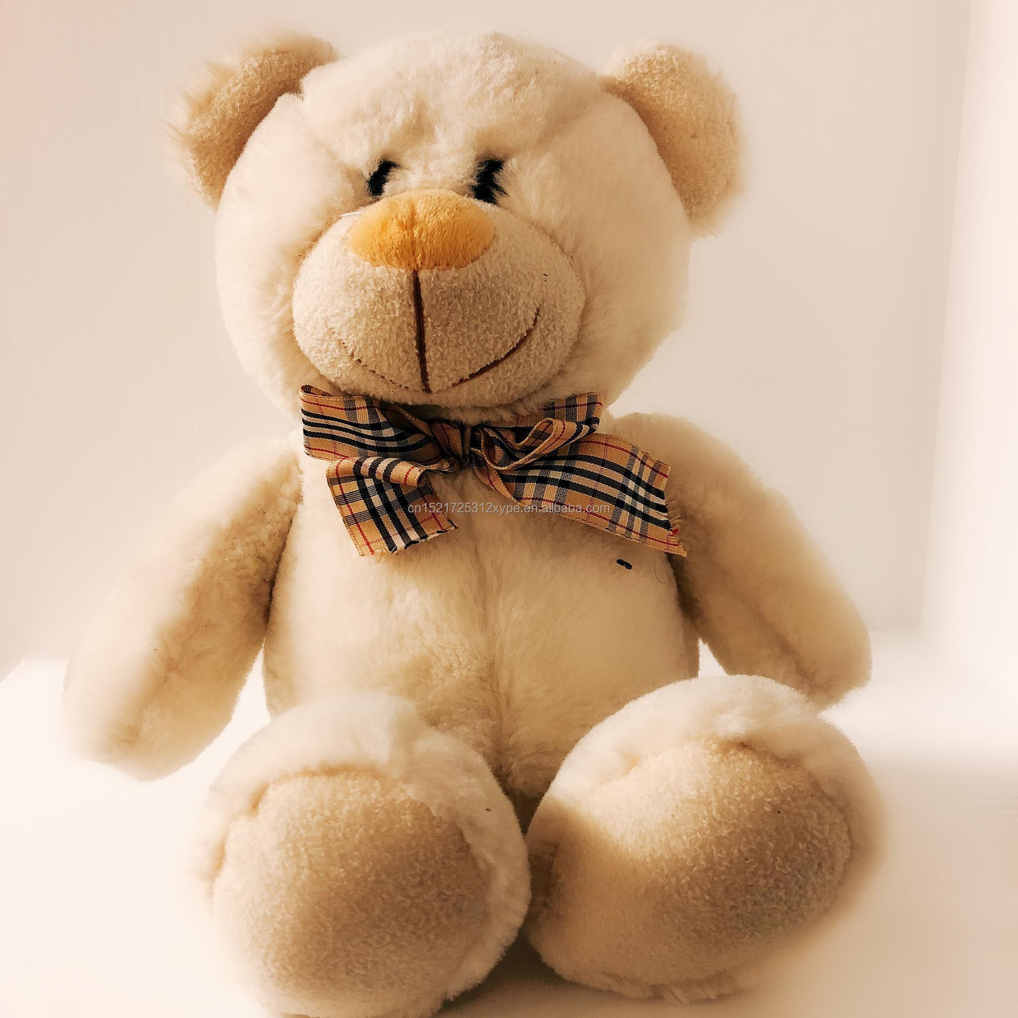 Commercio all'ingrosso di fabbrica su misura morbido peluche teddy bear a buon mercato promozionale regali di festa con bow tie