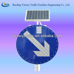 solar LED traffic sign board for indicating direction